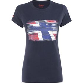 Bergans Norway T-shirt Femme, midnight blue